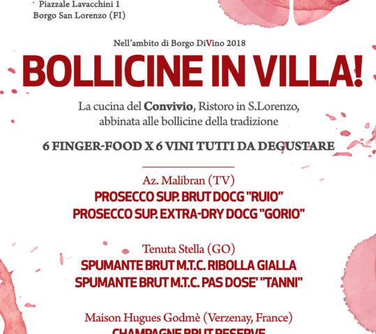 """Bollicine in VILLA! Finger Food e abbinamenti """"frizzanti"""""""